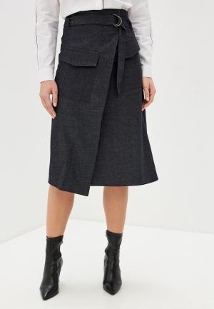 Юбка джинсовая UNQ. Цвет: черный