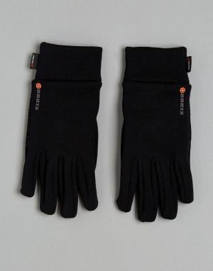 Флисовые перчатки Barts. Цвет: черный