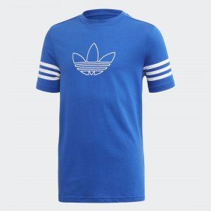 Футболка Outline Originals adidas. Цвет: белый