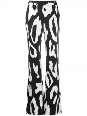 Расклешенные брюки с леопардовым принтом Just Cavalli. Цвет: черный