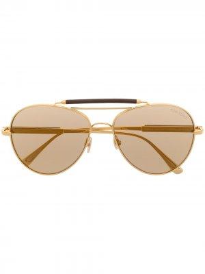 Солнцезащитные очки-авиаторы TOM FORD Eyewear. Цвет: золотистый