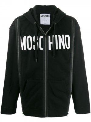 Худи с логотипом Moschino. Цвет: черный