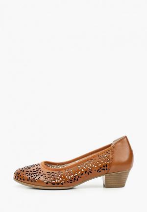 Туфли Caprice Увеличенная полнота, Comfort. Цвет: коричневый