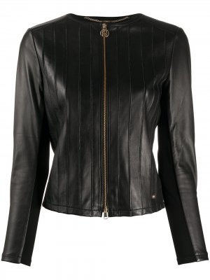 Куртка на молнии LIU JO. Цвет: черный