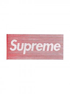 Штора из бамбуковых бусин с логотипом Supreme. Цвет: красный