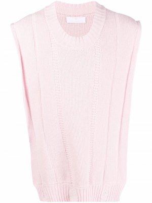 Жилет с широкими плечами AMI AMALIA. Цвет: розовый