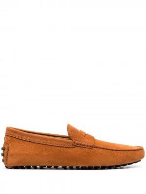 Tods мокасины с квадратным носком Tod's. Цвет: коричневый