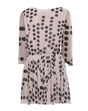Короткое платье FULL CIRCLE. Цвет: пудровый