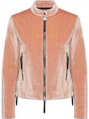 Куртка на молнии Giuseppe Zanotti. Цвет: розовый
