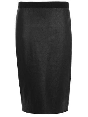 Юбка комбинированная BY MALENE BIRGER. Цвет: черный
