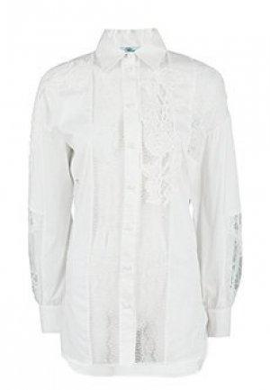 Рубашка BLUMARINE. Цвет: белый