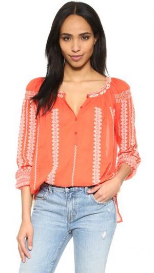 Блуза Onett Gat Rimon. Цвет: оранжевый/экрю