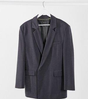Темно-серый двубортный пиджак COLLUSION Unisex