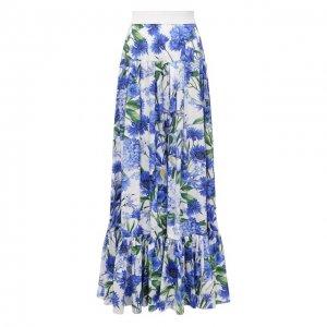 Хлопковая юбка Dolce & Gabbana. Цвет: синий