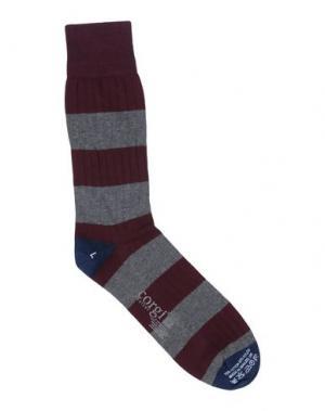 Короткие носки CORGI. Цвет: красно-коричневый