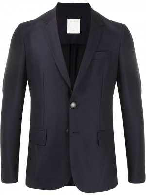 Костюм с однобортным пиджаком Sandro Paris. Цвет: синий