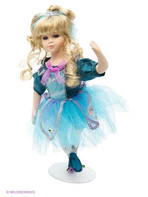 Кукла фарфор Балерина 14 дюймов Angel Collection. Цвет: голубой