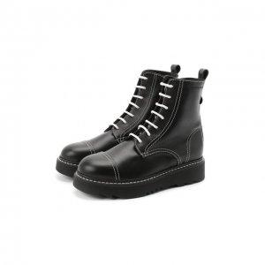 Кожаные ботинки Emporio Armani. Цвет: чёрный