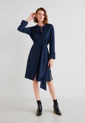 Платье Mango - LALLY2. Цвет: синий