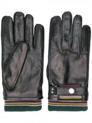 Ribbed top gloves Paul Smith. Цвет: черный