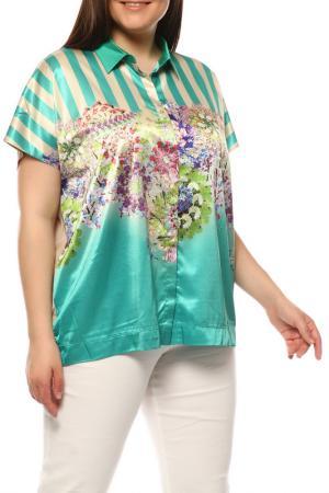 Блуза Basler. Цвет: бежевый, зеленый