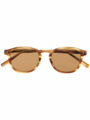 Солнцезащитные очки в круглой оправе Eight & Bob. Цвет: нейтральные цвета