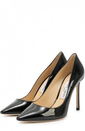 Кожаные туфли Romy 100 Jimmy Choo. Цвет: чёрный