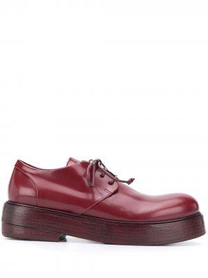 Chunky-sole derby shoes Marsèll. Цвет: красный