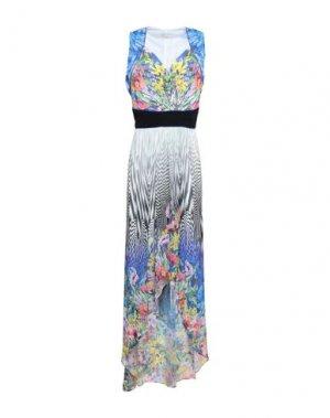 Короткое платье FEMÌ. Цвет: светло-серый