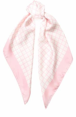 Шелковый платок с принтом Giorgio Armani. Цвет: розовый