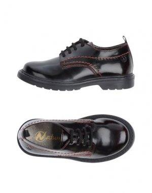 Обувь на шнурках NATURINO. Цвет: баклажанный