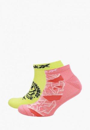 Комплект Reebok RUN CLUB WOMENS 2P SOCK. Цвет: разноцветный