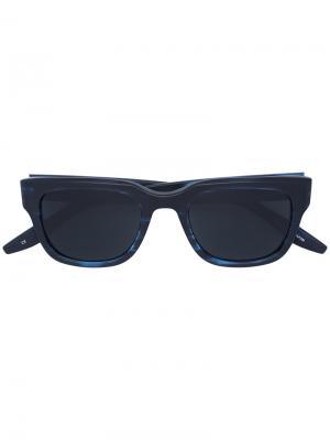 Солнцезащитные очки в квадратной оправе Barton Perreira. Цвет: синий