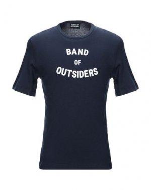 Футболка BAND OF OUTSIDERS. Цвет: темно-синий