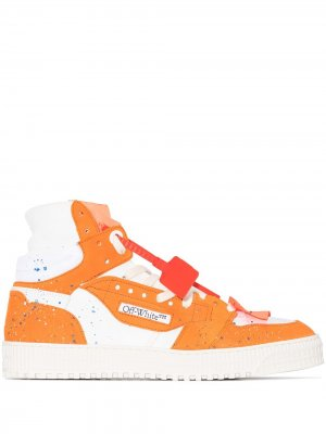 Orange Off-Court 3.0 high top leather sneakers Off-White. Цвет: оранжевый