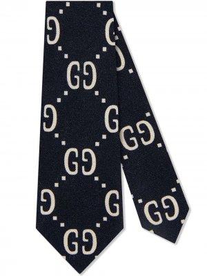 Галстук с логотипом GG Gucci Kids. Цвет: синий