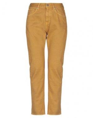 Джинсовые брюки PENCE. Цвет: охра