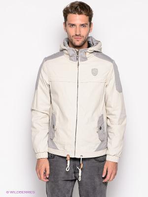 Куртка 883 Police. Цвет: молочный, серый