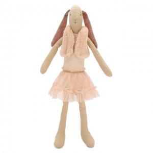 Игрушка Заяц Балерина в жилетке медиум Maileg. Цвет: розовый