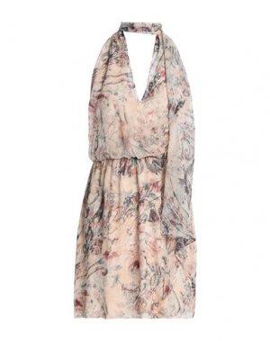 Платье до колена HAUTE HIPPIE. Цвет: телесный