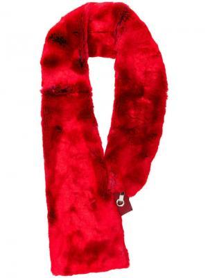 Воротник из искусственного меха Chalayan. Цвет: красный