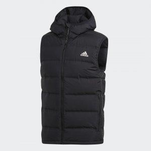 Утепленный жилет Helionic Hooded Performance adidas. Цвет: черный