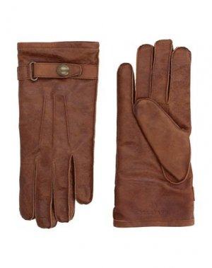 Перчатки BELSTAFF. Цвет: коричневый