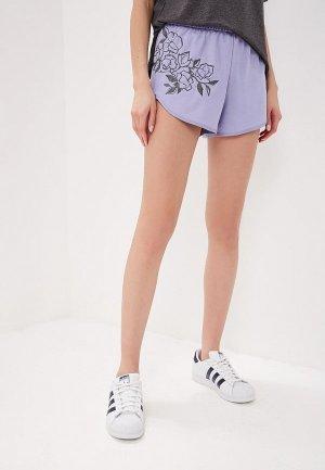 Шорты спортивные adidas Originals SHORTS. Цвет: фиолетовый