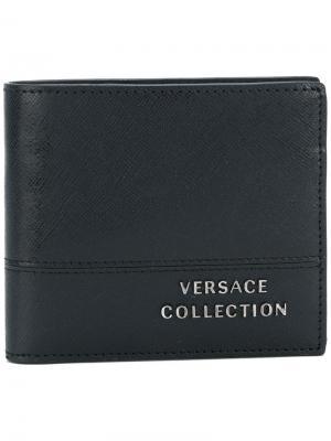 Классический бумажник Versace Collection. Цвет: чёрный