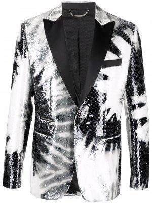Пиджак Paillettes с пайетками Philipp Plein. Цвет: черный