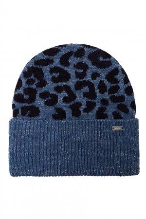 Ярко-голубая шапка с узором Junior Republic. Цвет: голубой