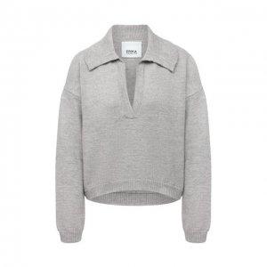 Шерстяной свитер Erika Cavallini. Цвет: серый