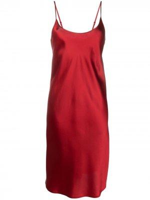 Ночная сорочка без рукавов La Perla. Цвет: красный