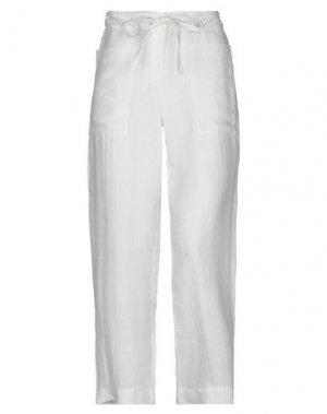 Повседневные брюки BIONEUMA NATURAL FASHION. Цвет: белый